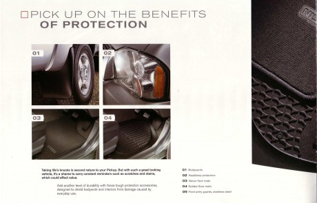 Nissan 4 x 4 accessory brochure page 3.