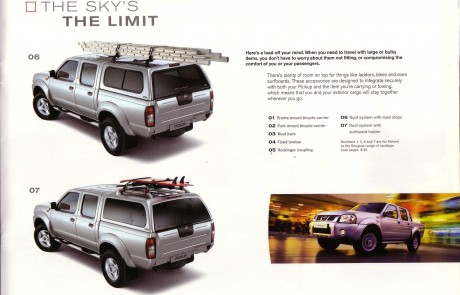 Nissan 4 x 4 accessory brochure page 4.