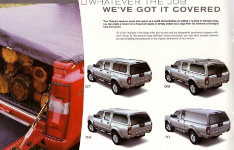 Nissan 4 x 4 accessory brochure page 5.