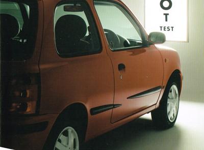 Nissan MOT leaflet cover.