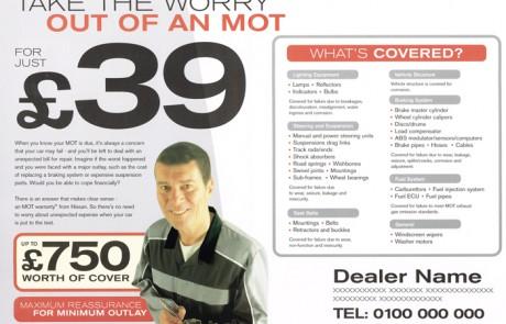 Nissan MOT leaflet inside spread.
