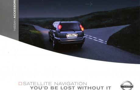 Nissan sat nav brochure front cover.