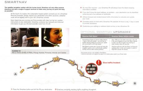 Nissan sat nav brochure page 4.